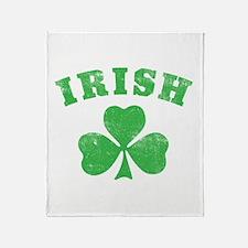 Cute Fighting irish Throw Blanket