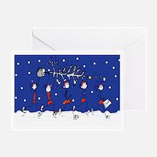 Christmas Runners Greeting Card