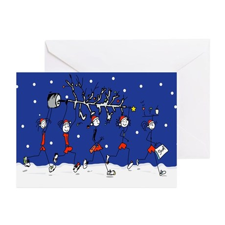 Christmas Runners Greeting Cards (Pk of 10)