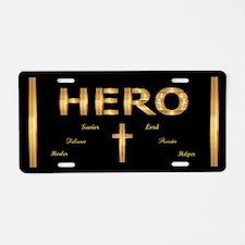 Hero Aluminum License Plate