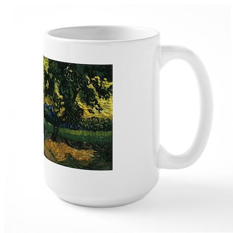 Van Gogh Trees Chateau Auvers Large Mug