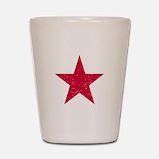 Vintage Red Star Shot Glass