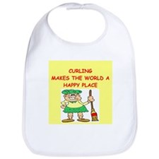 curling gifts t-shirts Bib
