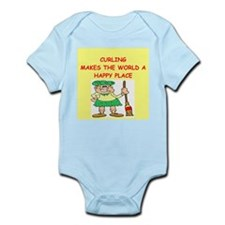 curling gifts t-shirts Infant Bodysuit