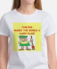 curling gifts t-shirts Tee