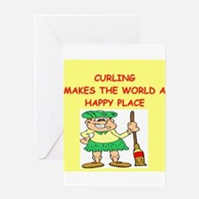 curling gifts t-shirts Greeting Card