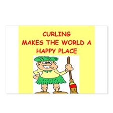 curling gifts t-shirts Postcards (Package of 8)