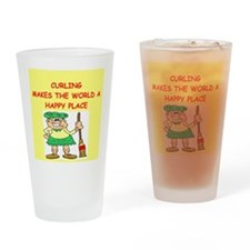 curling gifts t-shirts Drinking Glass