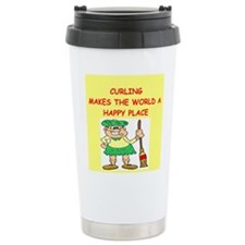 curling gifts t-shirts Travel Mug