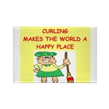 curling gifts t-shirts Rectangle Magnet