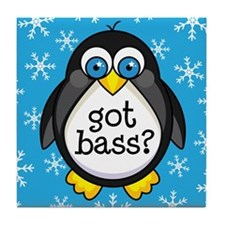Bass Music Penguin Tile Coaster