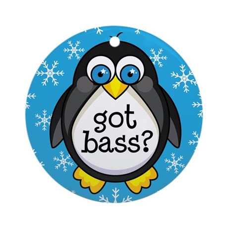 Bass Music Penguin Ornament (Round)