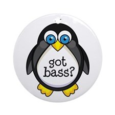 Bass Music Penguin Ornament (Round)