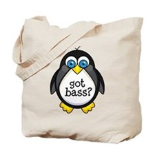 Bass Music Penguin Tote Bag