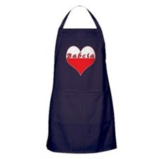 Babcia Polish Heart Apron (dark)