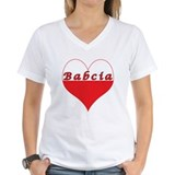 I love poland Womens V-Neck T-shirts