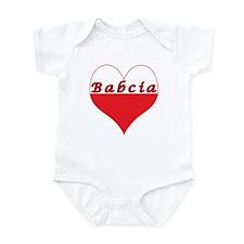 Babcia Polish Heart Infant Bodysuit
