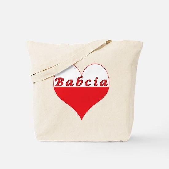 Babcia Polish Heart Tote Bag