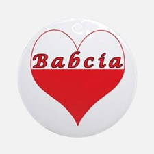 Babcia Polish Heart Ornament (Round)
