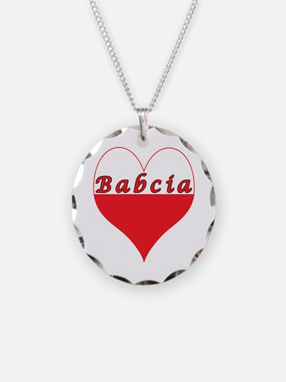Babcia Polish Heart Necklace