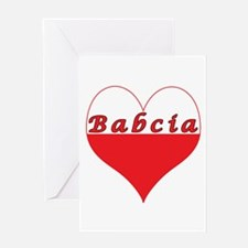Babcia Polish Heart Greeting Card
