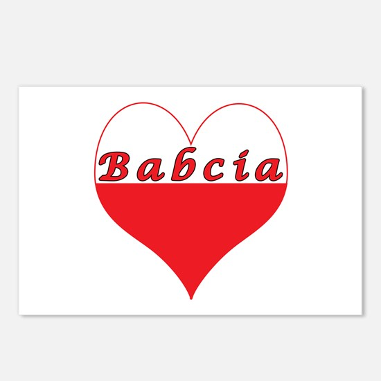 Babcia Polish Heart Postcards (Package of 8)
