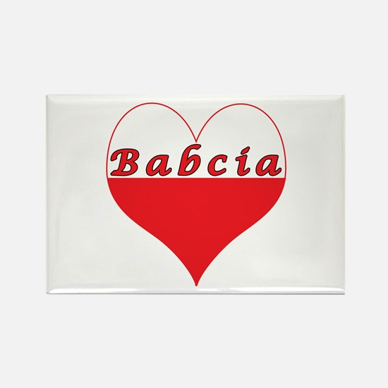 Babcia Polish Heart Rectangle Magnet