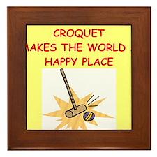 croquet Framed Tile