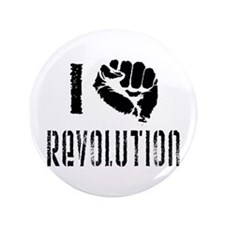 "I Fist Revolution 3.5"" Button"