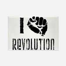I Fist Revolution Rectangle Magnet