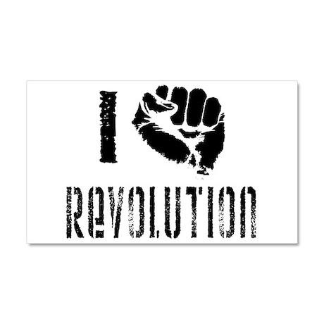 I Fist Revolution Car Magnet 20 x 12