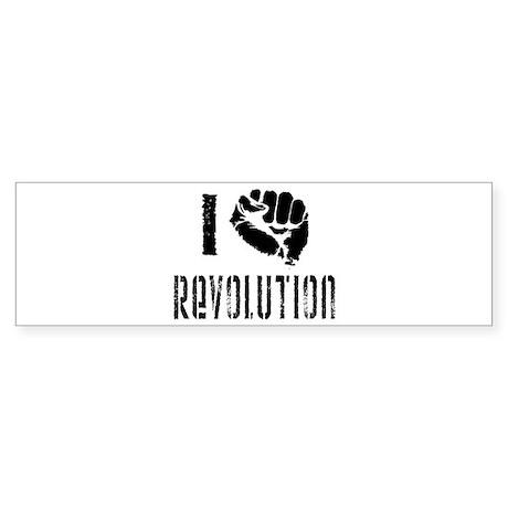I Fist Revolution Sticker (Bumper)