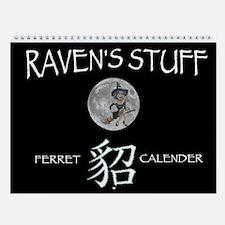 RAVENS STUFF FERRET Custom Wall Calendar