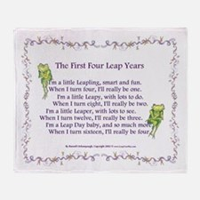First Four Leap Years Throw Blanket