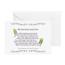 First Four Leap Years Greeting Card