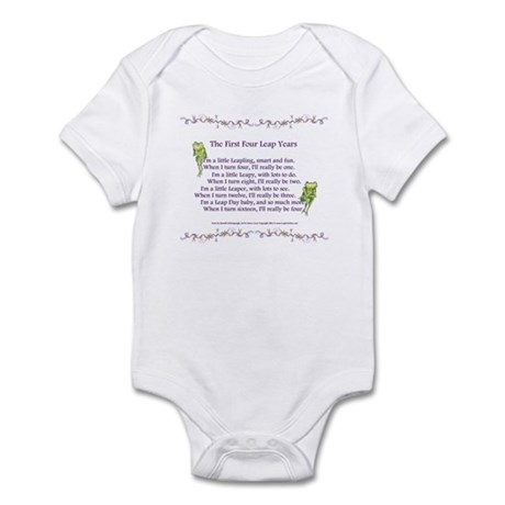 First Four Leap Years Infant Bodysuit
