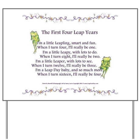 First Four Leap Years Yard Sign