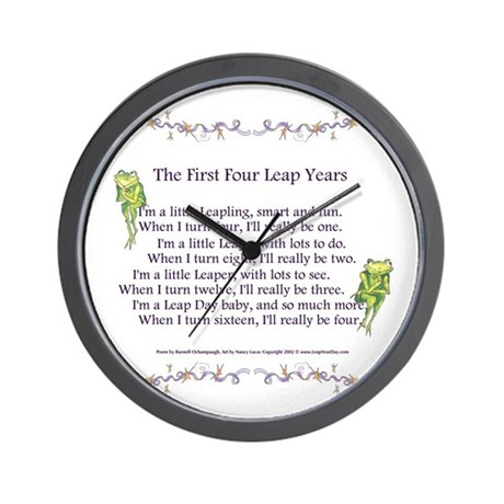 First Four Leap Years Wall Clock