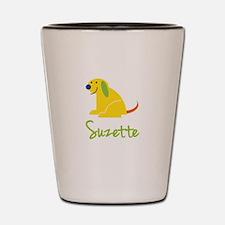 Suzette Loves Puppies Shot Glass