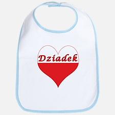 Dziadek Polish Heart Bib