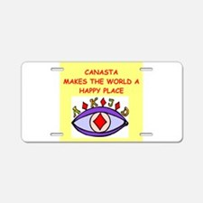 canasta gifts t-shirts Aluminum License Plate