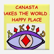 canasta gifts t-shirts Tile Coaster