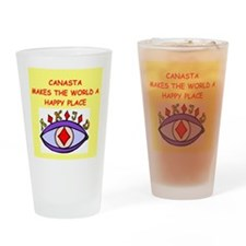 canasta gifts t-shirts Drinking Glass