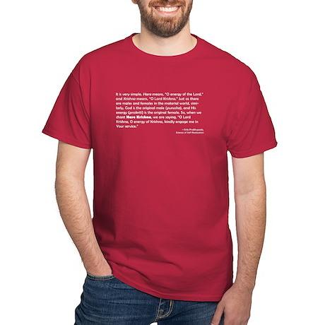 Defining Hare Krishna Quote Dark T-Shirt