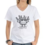 Delete Button Women's V-Neck T-Shirt