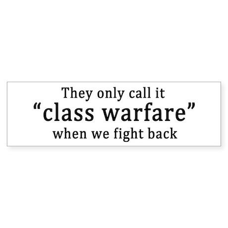 Class Warfare Sticker (Bumper)