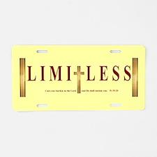 Limitless Aluminum License Plate