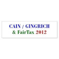 Cain Gingrich FairTax Bumper Bumper Sticker