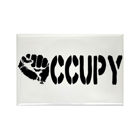 Occupy Wall Street Fist Rectangle Magnet