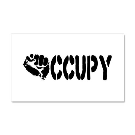 Occupy Wall Street Fist Car Magnet 20 x 12